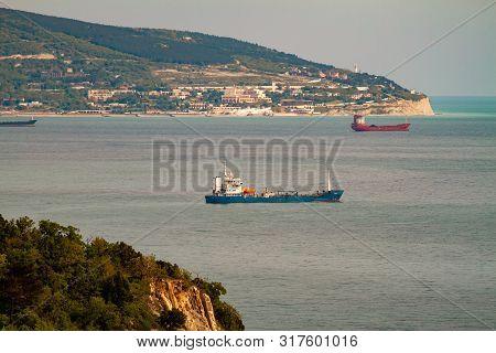 Ships In The Gulf Of Novorossiysk, Krasnodar Region