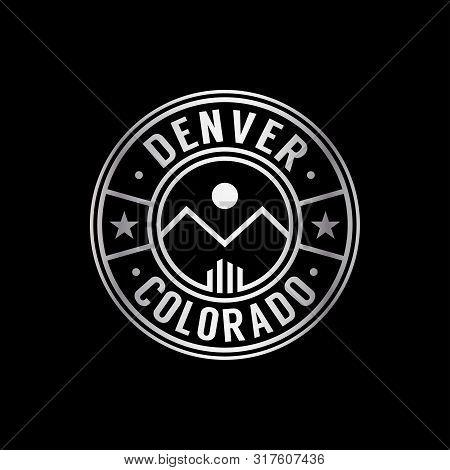 Denver Logo. Denver Colorado Design Template. Vector And Illustration.