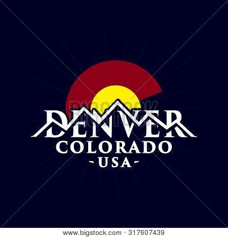 Denver Colorado Logo Design. Vector And Illustration.