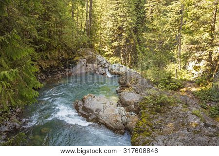 Nooksack Falls Waterfall Located In Whatcom County, Washington Off Mount Baker Highway, Washigton St