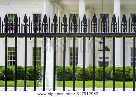 Black Fence Presidential White House Pennsylvania Ave Washington DC poster