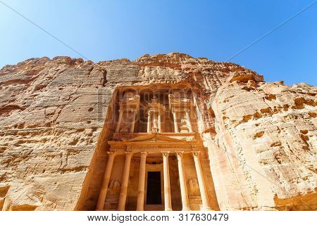 The Treasury Is One Of The Most Elaborate Temples In The Ancient Arab Nabatean Kingdom City Of Petra