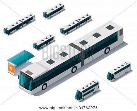 Vector isometric bus set