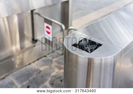 Entrance Gate Card Access Security System In Building