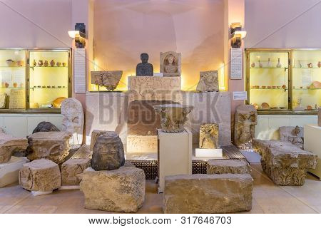 Amman, Jordan - 0october 15, 2018: Jordan Archaeological Museum Interior In Amman, Jordan On Februar