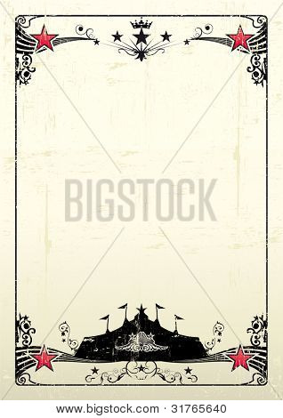 grungy circus poster. A new grunge poster with a black big top for your show.