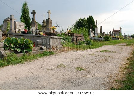 Momina - JULY 6: View of a old cemetery in Momina on July 6, 2010 in Momina, Poland