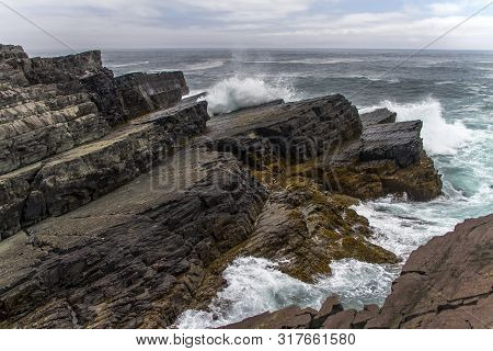 Heavy Seas At Mistaken Point Ecological Reserve, Newfoundland