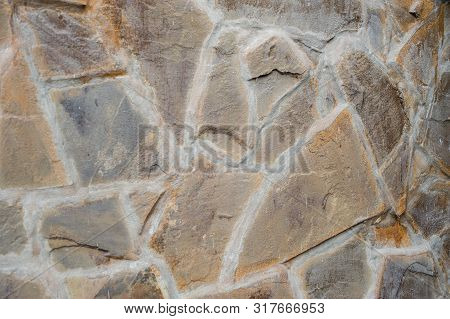 The Stone Wall Texture Background Natural Color.background Of Stone Wall Texture.natural Stone Wall