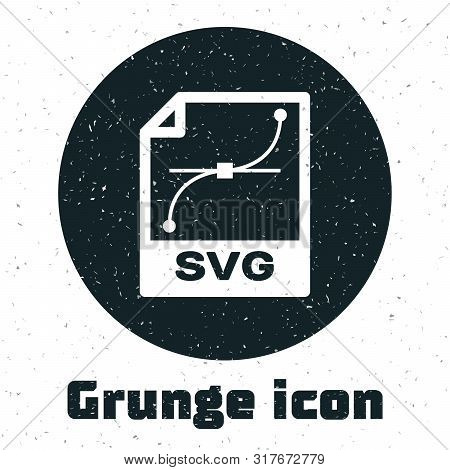 Grunge Svg File Document. Download Svg Button Icon Isolated On White Background. Svg File Symbol. Ve