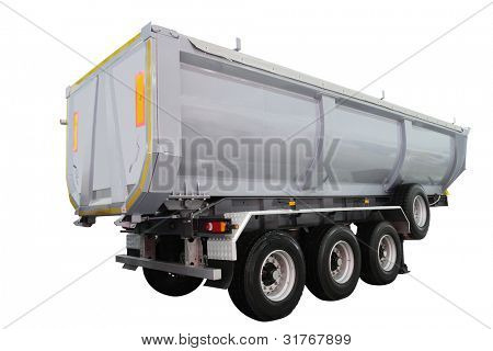 dumper semitrailer isolated under the white background