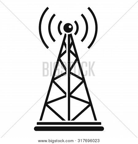 Gsm Tower Icon. Simple Illustration Of Gsm Tower Vector Icon For Web Design Isolated On White Backgr
