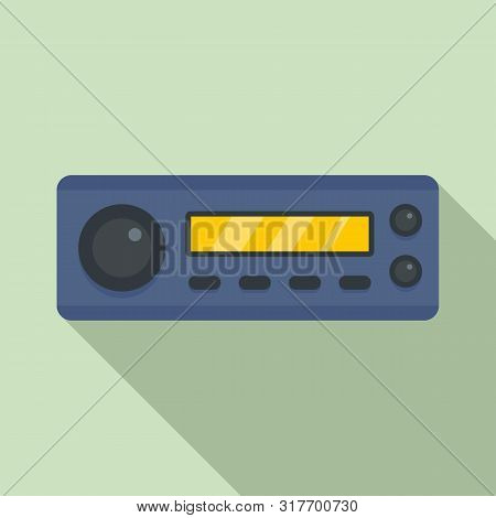 Compact Car Audio Icon. Flat Illustration Of Compact Car Audio Vector Icon For Web Design