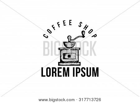 Coffee Roaster, Vintage Coffee Logo Vector Illustration