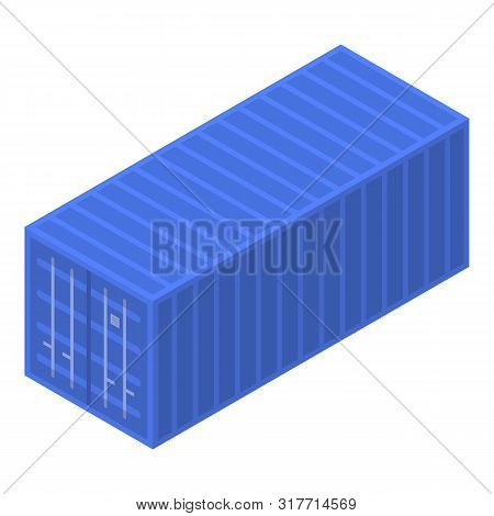 Port Cargo Container Icon. Isometric Of Port Cargo Container Vector Icon For Web Design Isolated On
