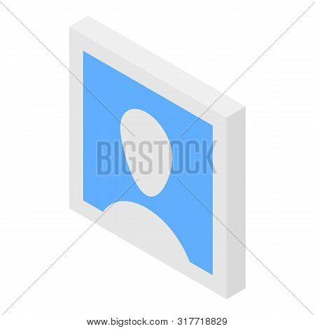 Man Default Avatar Icon. Isometric Of Man Default Avatar Vector Icon For Web Design Isolated On Whit