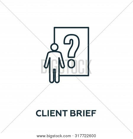Client Brief Vector Icon Symbol. Creative Sign From Advertising Icons Collection. Filled Flat Client