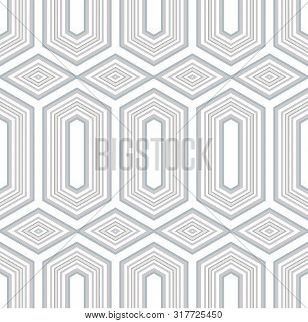 Abstract Seamless Pattern Of Many Shapes. Vector Kaleidoscope.