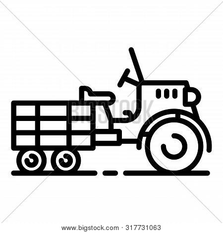 Walk-behind Tractor Icon. Outline Walk-behind Tractor Vector Icon For Web Design Isolated On White B