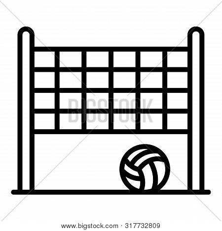 Brazil Beach Volleyball Icon. Outline Brazil Beach Volleyball Vector Icon For Web Design Isolated On
