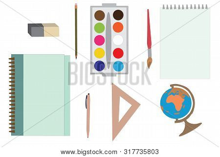 Vector Illustration Of School Education And Subject