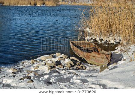 Boat Near The Shore.