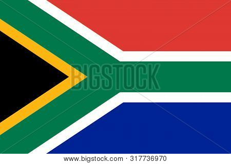 Flag Of South Africa Vector Illustration, Worlds Flags Collection
