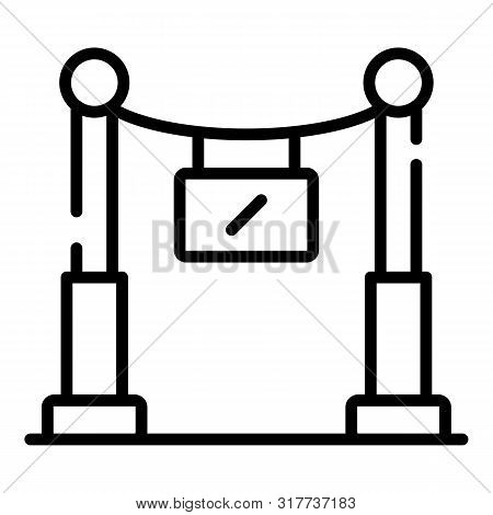 VIP sector icon. Outline VIP sector vector icon for web design isolated on white background poster