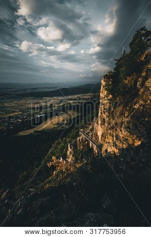 Mountain Peak Skywalk at the Hohe Wand in lower austria poster