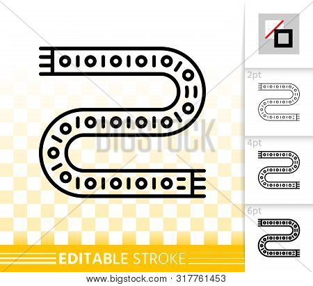 Led Strip Light Thin Line Icons. Outline Sign Of Led Lamp. Fluorescent Glow Linear Pictogram With Di