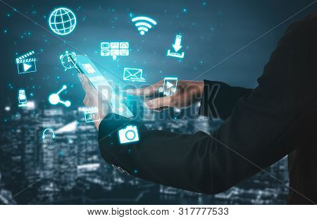 Multimedia And Computer Applications Concept