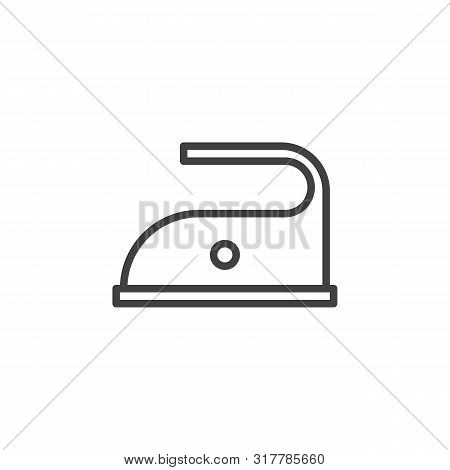 110 C Iron Temp Sign Line Icon. Linear Style Sign For Mobile Concept And Web Design. 230 F Maximum T