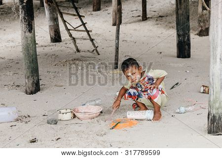 Surin Islands, Phang Nga Province, Thailand - May 2019 : Islander Local Life In Koh Surin Islands, I