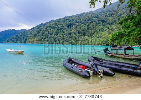 Surin Islands, Phang Nga Province, Thailand - May 2019 : Koh Surin Islands Is An Archipelago Of Five