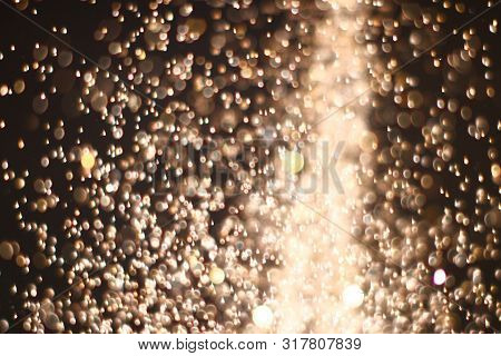 Pretty Huge Amount Flying Festal Glitters Bokeh Texture - Abstract Photo Background