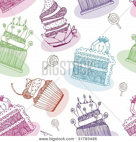 Cake Vector Background
