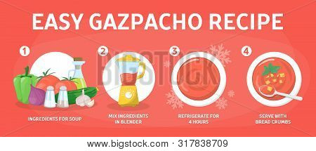 Cold Gazpacho Soup Cooking Recipe. Fast And Easy