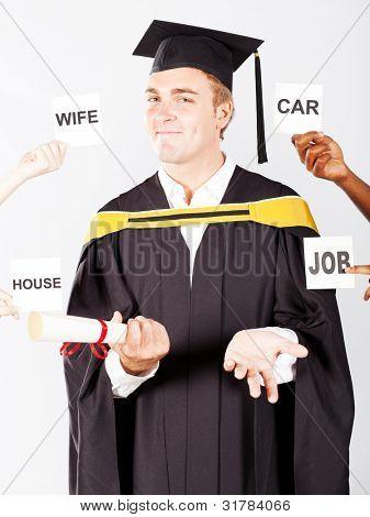 male graduate's wish list