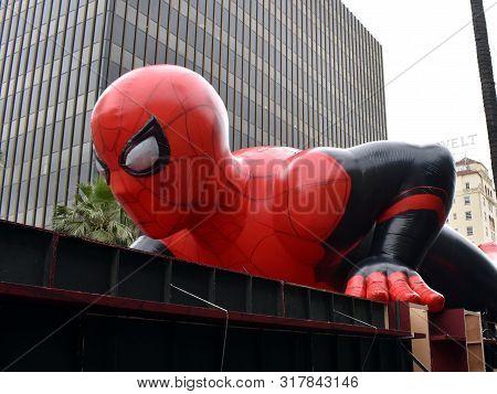 Los Angeles, California/united States-jun 26, 2019:  Inflatable Spiderman On Display At Hollywood Bo