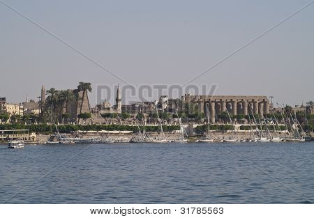 Luxor Temple, view from Nile.