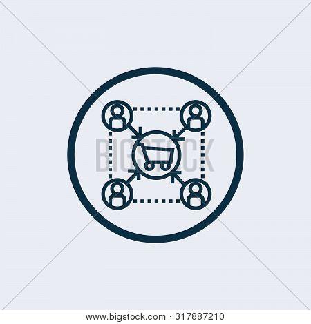Affiliate Marketing Icon Isolated On White Background. Affiliate Marketing Icon Simple Sign. Affilia