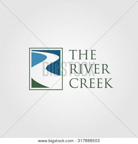 Vintage River Creek Logo Vector Designs Illustration