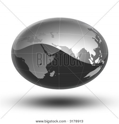 Gray Earth Africa To Asia