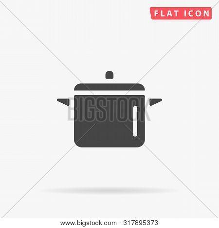 Cooking Pan. Kitchen Pot. Flat Design Style Minimal Vector Illustration Icon For Web Design