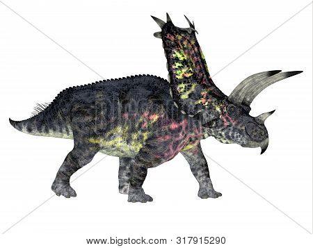 Pentaceratops Dinosaur Side Profile 3d Illustration - Pentaceratops Was A Herbivorous Ceratopsian Di