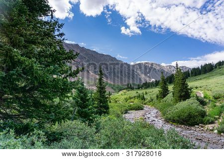 Gray's Peak Trailhead Alpine Scene