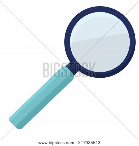 Plastic Metal Magnifying Glass, Magnifier, Loupe, Reading-glass, Bulleye. Modern Flat Cartoons Style