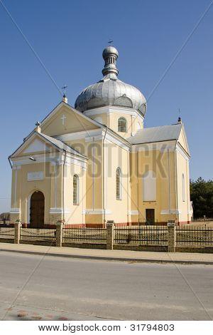Orthodox church from 1881 in Dobra near Sieniawa, Poland