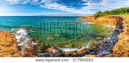 Panorama View Of Sea From The Vir Island In The Zadar County Of Croatia, Europe.