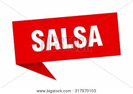 Salsa Speech Bubble. Salsa Sign. Salsa Banner